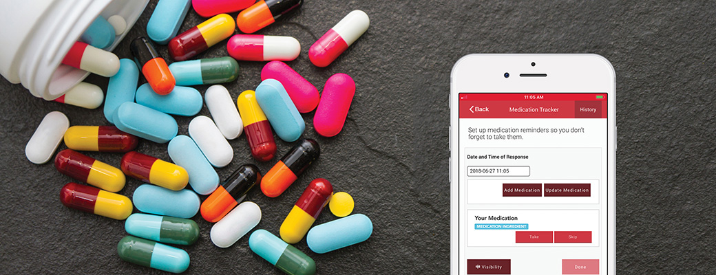 Remember to take your medications using the 'My MedicAlert app'