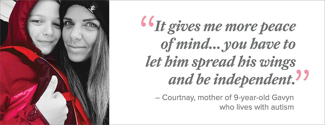 Courtnay assumed that MedicAlert was for other conditions, not her son's autism.