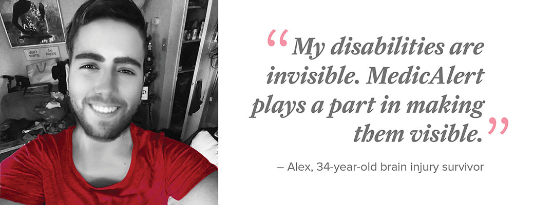 Alex lives with life-altering symptoms of a brain injury.