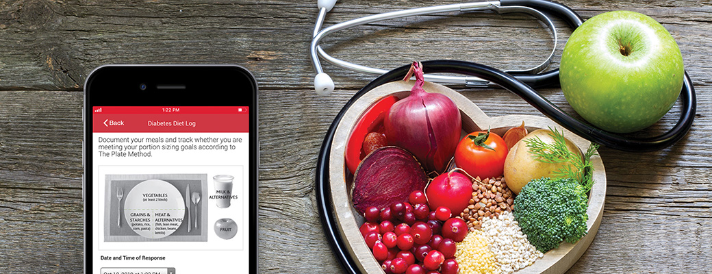 Monitoring your eating habits with the 'Diabetes Diet Log' tool