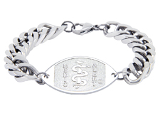 Curb Link Surgical Steel Bracelet
