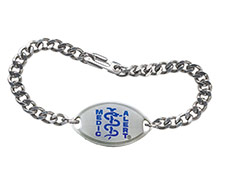 Signature Blue Designer Stainless Steel Bracelet