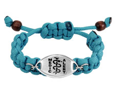 Blue Paracord Bracelet