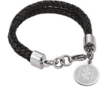 "STEELX ""Pretty Edgy"" Leather Bracelet"