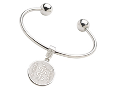 Liberty Bangle and removable Liberty Drop Medallion
