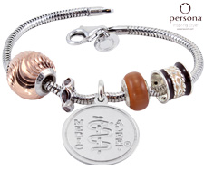 Persona® Sterling Silver with Rose Gold Beads