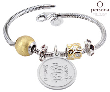 Persona® Sterling Silver with Gold Beads