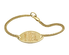 14K Gold-Filled Bracelet - Small Emblem