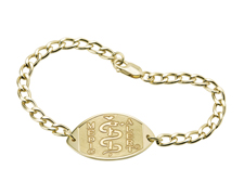 14K Gold-Filled Bracelet - Large Emblem