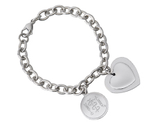 STEELX Double Heart Charm Bracelet