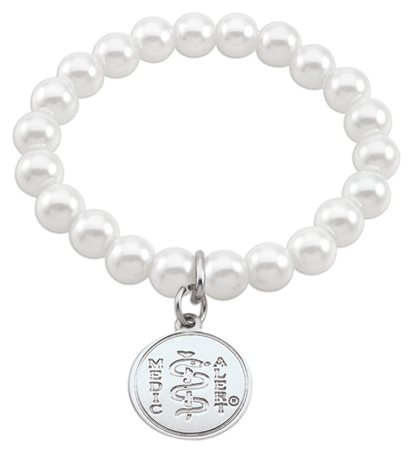 Crystal Pearl Bracelet - Classic White