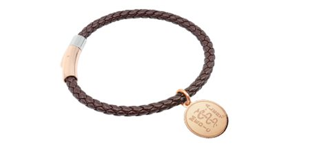 STEELX Two-Tone Magnetic closure Leather Bracelet - Brown