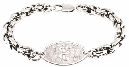 Double Helix Surgical Steel Bracelet - Small Emblem