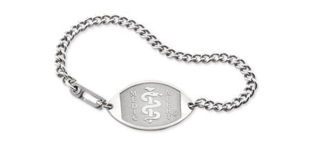 Stainless Steel Bracelet - Large Emblem