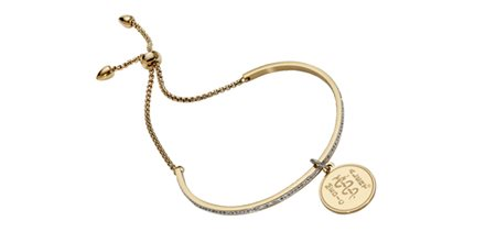 STEELX Crystal Adjustable Bolo Bracelet - Gold