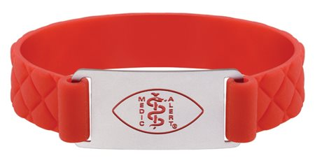 Premier Active Red Silicone Band - Matte Emblem