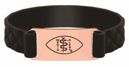 Premier Active Black Silicone Band - Rose Gold Emblem