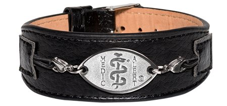Premium Comfort Leather Band - Black